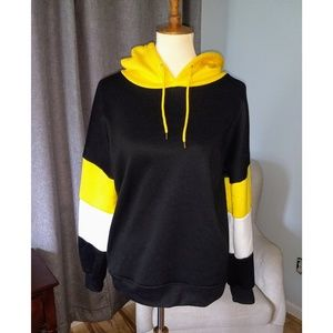 Black, Yellow, and white Hoodie